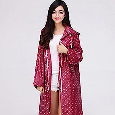 美娜甜心 日本熱銷設計款時尚修身雙口袋連帽雨衣/風衣
