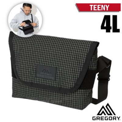 GREGORY TEENY 4L 超輕可調式側背包_黑格