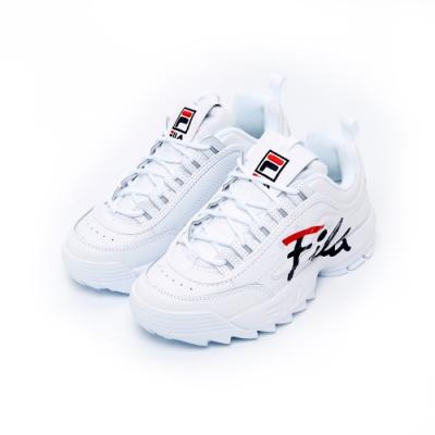 FILA DISRUPTOR女運動鞋(鋸齒鞋)-白 5-C608T-125