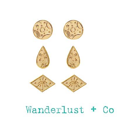 Wanderlust+Co星系耳環組 - 金色