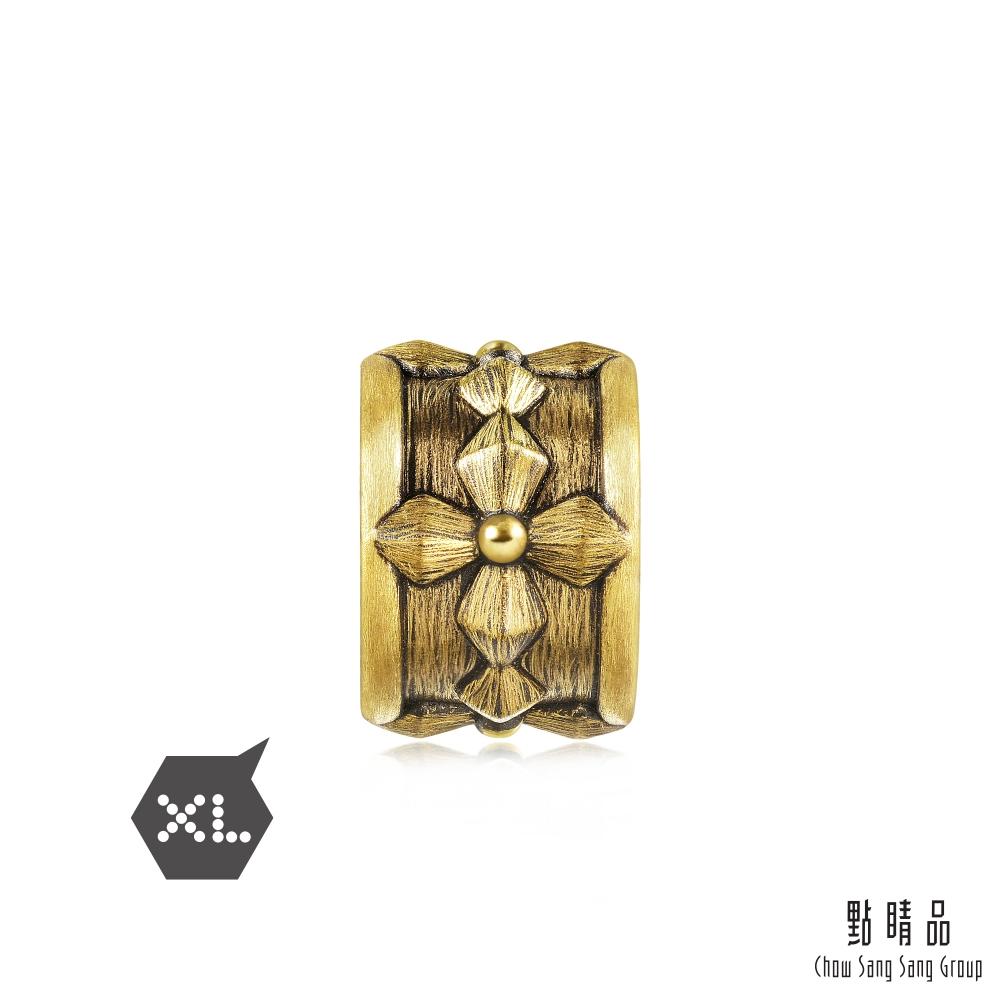 點睛品 999純金 Charme XL 酷黑系列 叛逆 黃金串珠