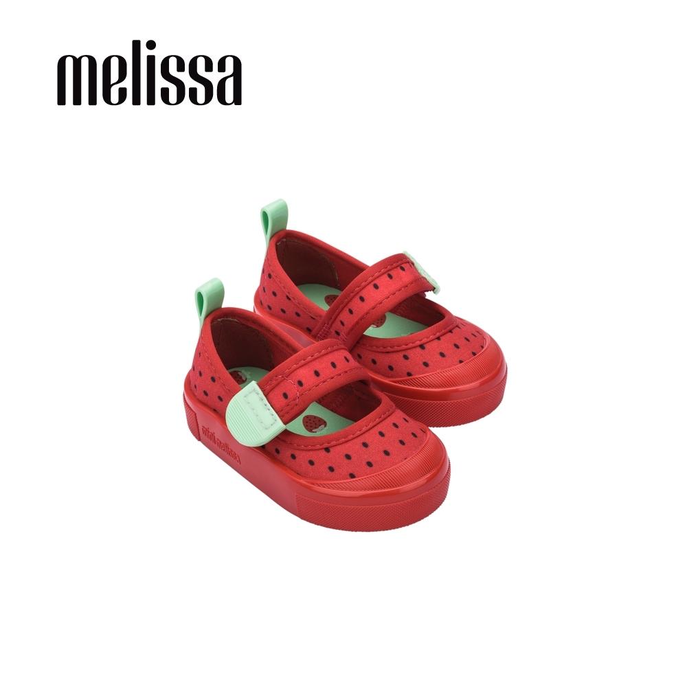 Melissa 可愛水果系列 草莓造型娃娃鞋 寶寶款 - 紅