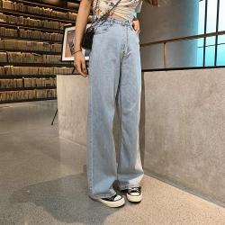 時尚經典款修身帥氣鬆緊腰闊腿S-XL-WHATDAY