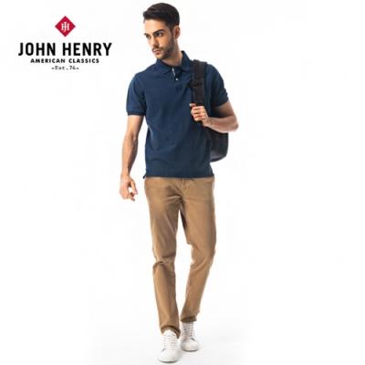 【JOHN HENRY】經典百搭純色短袖POLO衫-四色選