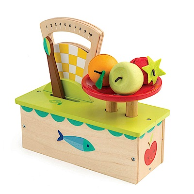 Tender Leaf Toys木製家家酒玩具-新鮮水果小磅秤玩具組