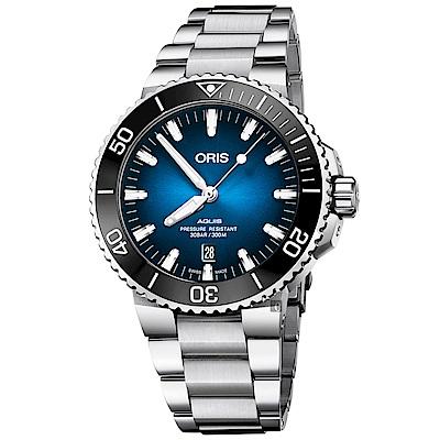 Oris豪利時 Clipperton 克利珀頓島 限量機械錶-藍x銀/43.5mm
