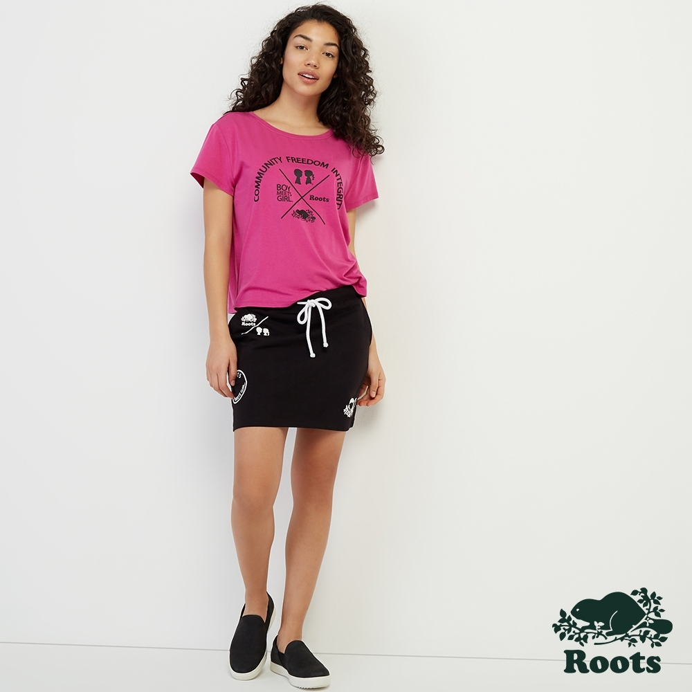 [BMG系列]女裝ROOTS- INTEGRITY寬鬆T恤-粉色