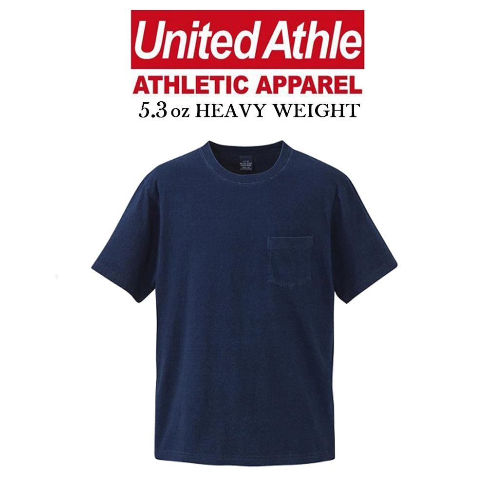 日本United Athle丹寧藍染INDIGO口袋短T UA 5.3oz