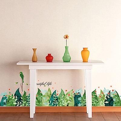 半島良品 DIY無痕壁貼-熱帶樹葉 XH7221 50x70cm