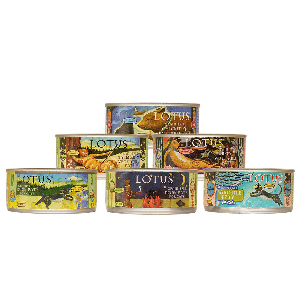 LOTUS樂特斯 慢燉無穀主食罐全系列 全貓配方 150G-6件組 口味各一