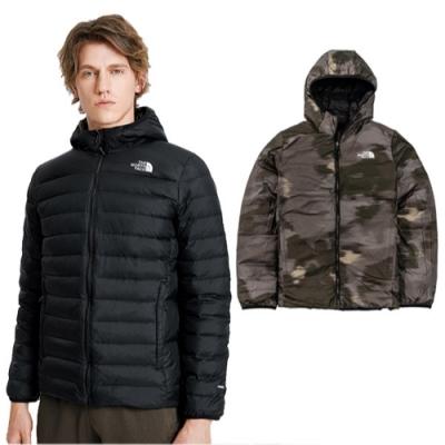 The North Face 男新款 700FPl 超輕保暖鵝絨雙面穿羽絨外套.防潑水防風夾克_黑 N