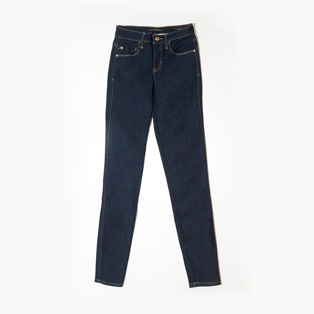 GUESS-女裝-經典單寧牛仔長褲-藍 原價2990