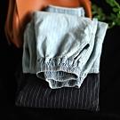 條紋純棉牛仔褲寬鬆顯瘦老爹褲休閒哈倫長褲-設計所在