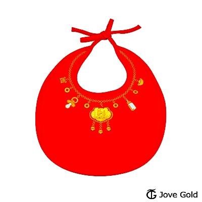 Disney迪士尼金飾 黃金圍兜兜彌月禮盒-兩小無猜款-0.1錢
