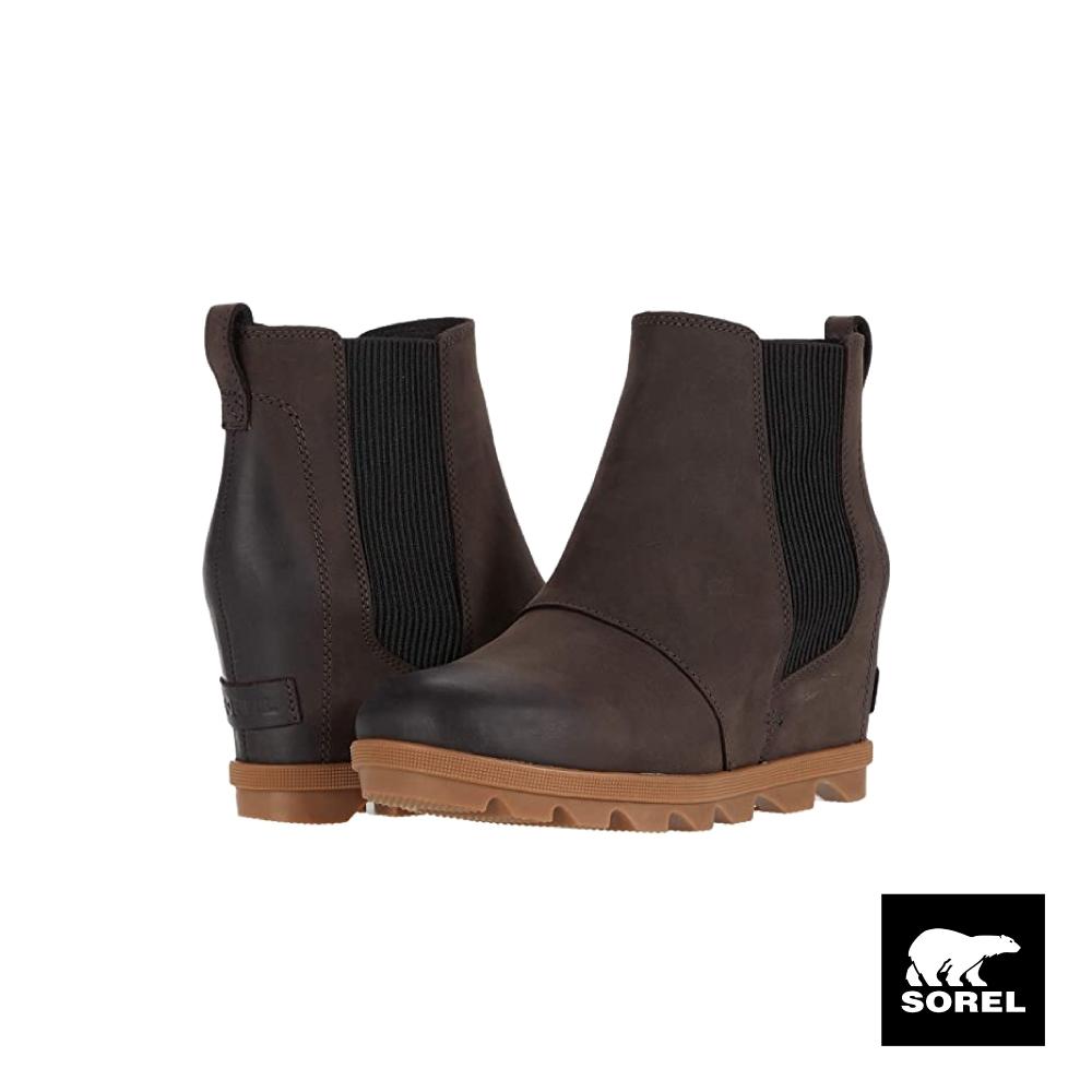 SOREL-JOAN OF ARCTIC 女生楔型靴-咖啡色