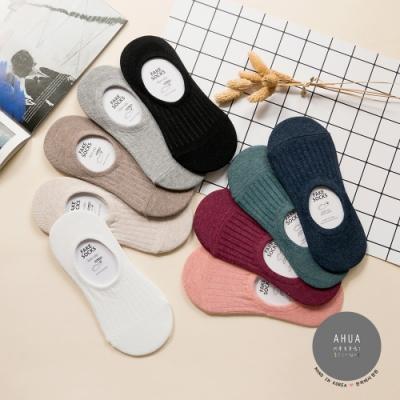 阿華有事嗎 韓國襪子 簡約純色條紋隱形襪 韓妞必備少女襪 正韓百搭純棉襪