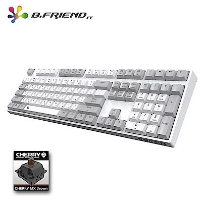B.Friend MK7R Cheery茶軸PBT白光遊戲鍵盤(白色)