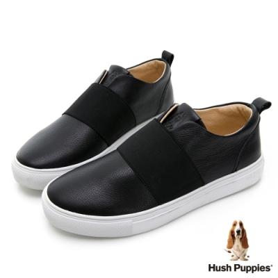 Hush Puppies Qwotpermtp 皮革直套女便鞋-黑