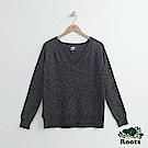 Roots -女裝- 雪狐V領針織衫- 深灰