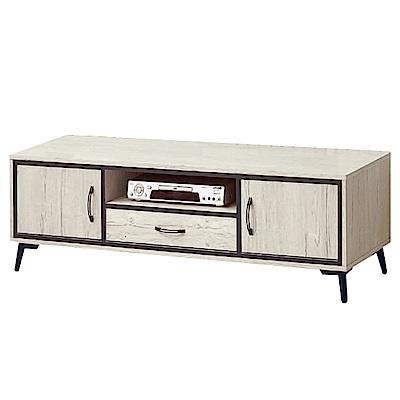 綠活居 波亞時尚5尺木紋電視櫃/視聽櫃-150x40x46cm-免組