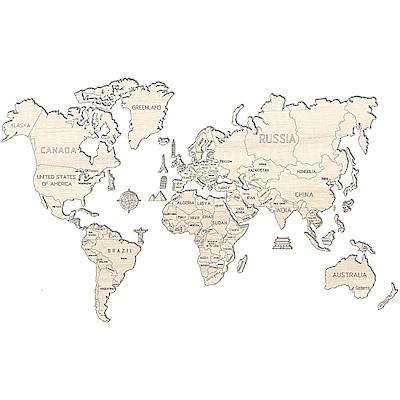 波蘭 WOODEN CITY 動力模型/世界地圖/XL