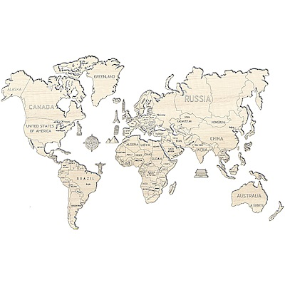 波蘭 WOODEN CITY 動力模型/世界地圖/XXL