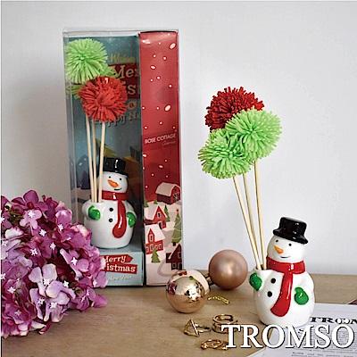 TROMSO魅力法國-聖誕雪人40ml竹木精油香氛-櫻花