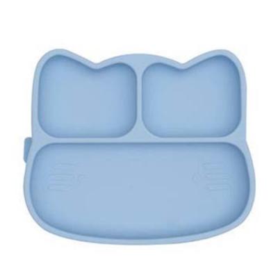 澳洲We Might Be Tiny 矽膠分隔餐盤小花貓-粉藍
