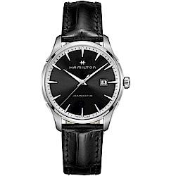 Hamilton漢米爾頓JAZZMASTER爵士系列摩登經典手錶(H32451731)-黑