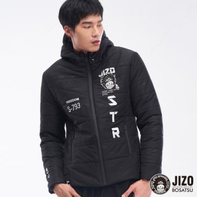 地藏小王 BLUE WAY-地藏黑視覺街頭鋪棉外套