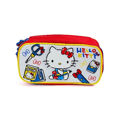 Sanrio HELLO KITTY防潑水大容量筆袋(學校小物)