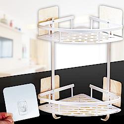 [Ezlife]太空鋁多功能無痕牆角置物架