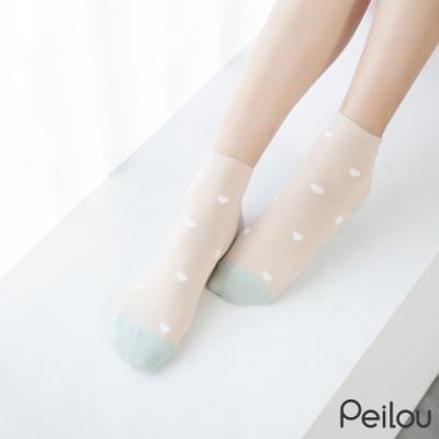 貝柔消臭精梳棉短襪-愛心(6雙組)