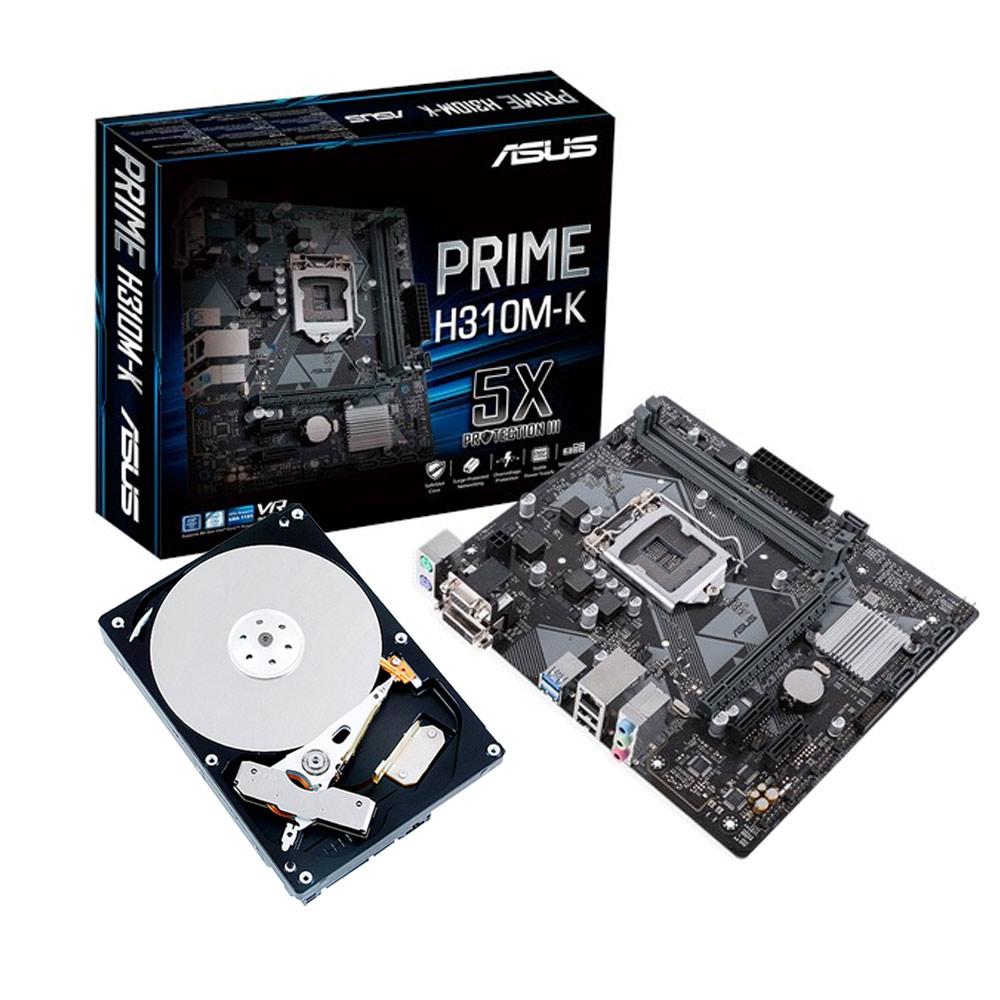 華碩 PRIME H310M-K+TOSHIBA 1TB硬碟
