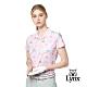 【Lynx Golf】女款吸濕排汗涼感透氣洞洞布小胸袋設計短袖POLO衫-粉色 product thumbnail 2