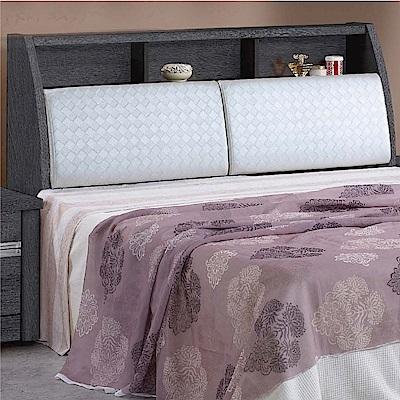 綠活居 路斯5尺皮革雙人床頭箱(二色+不含床底)-151.5x30x109cm免組