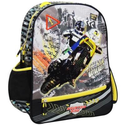【MAXPERO】競速摩托車17.5吋 後背書包 / 兒童背包 / 後背包