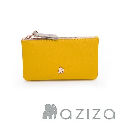 aziza 鑰匙零錢包-黃