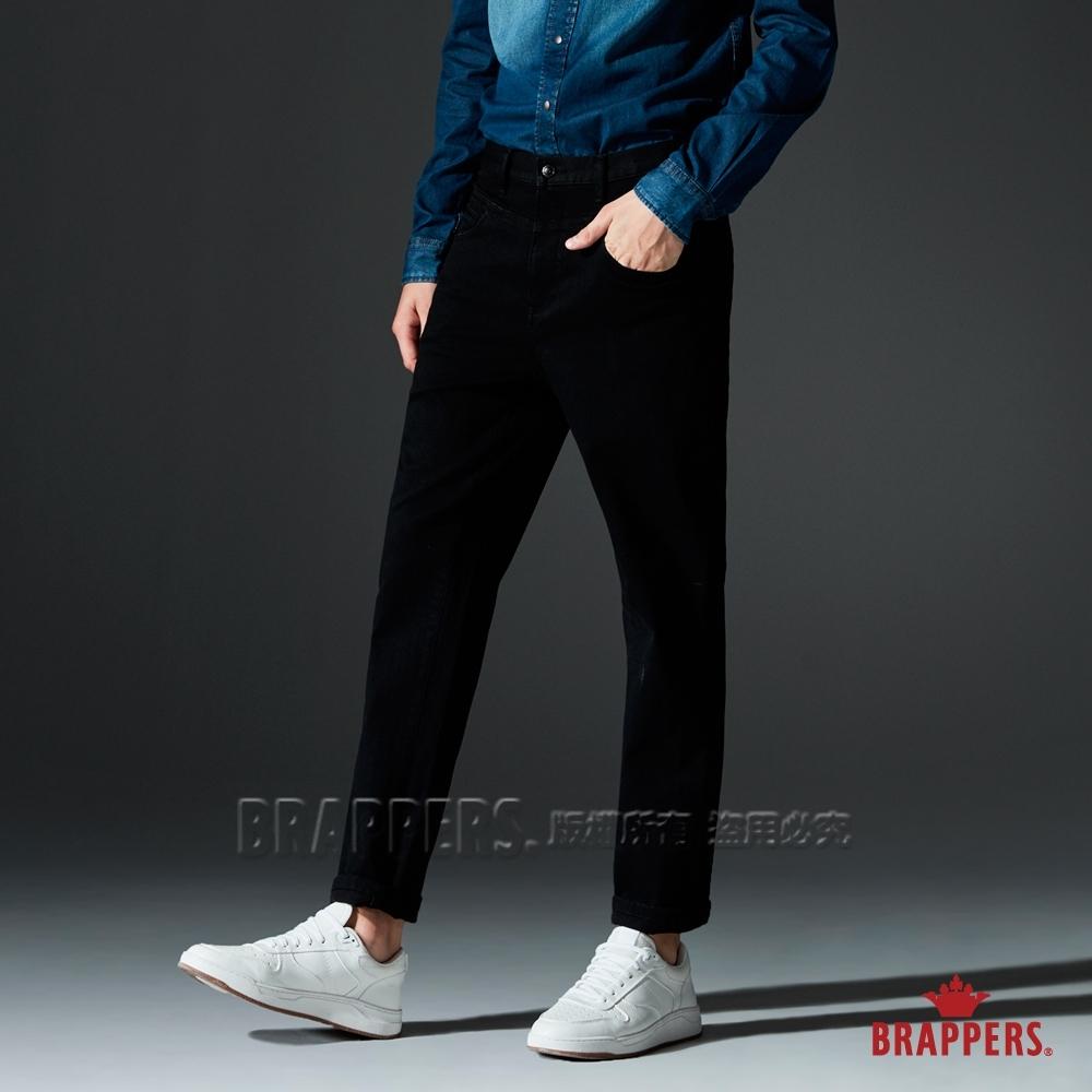 BRAPPERS 男款 HF-Boy Friend系列-彈性直筒褲-黑