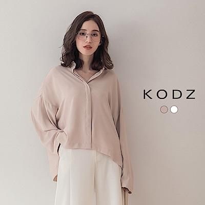 東京著衣-KODZ 浪漫優雅高質感面料寬版雪紡襯衫上衣(共兩色)