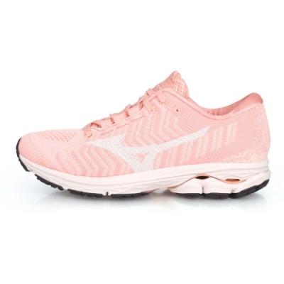 MIZUNO 女慢跑鞋 RIDER WAVEKNIT 3 粉橘白