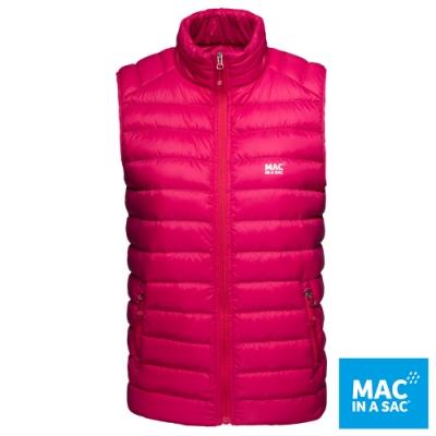 【MAC IN A SAC】女款輕暖袋著走羽絨保暖背心LDS179桃紅/極輕量易攜帶