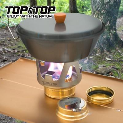 韓國TOP&TOP 便攜輕量酒精爐 登山 爐頭 高山爐 野炊 露營