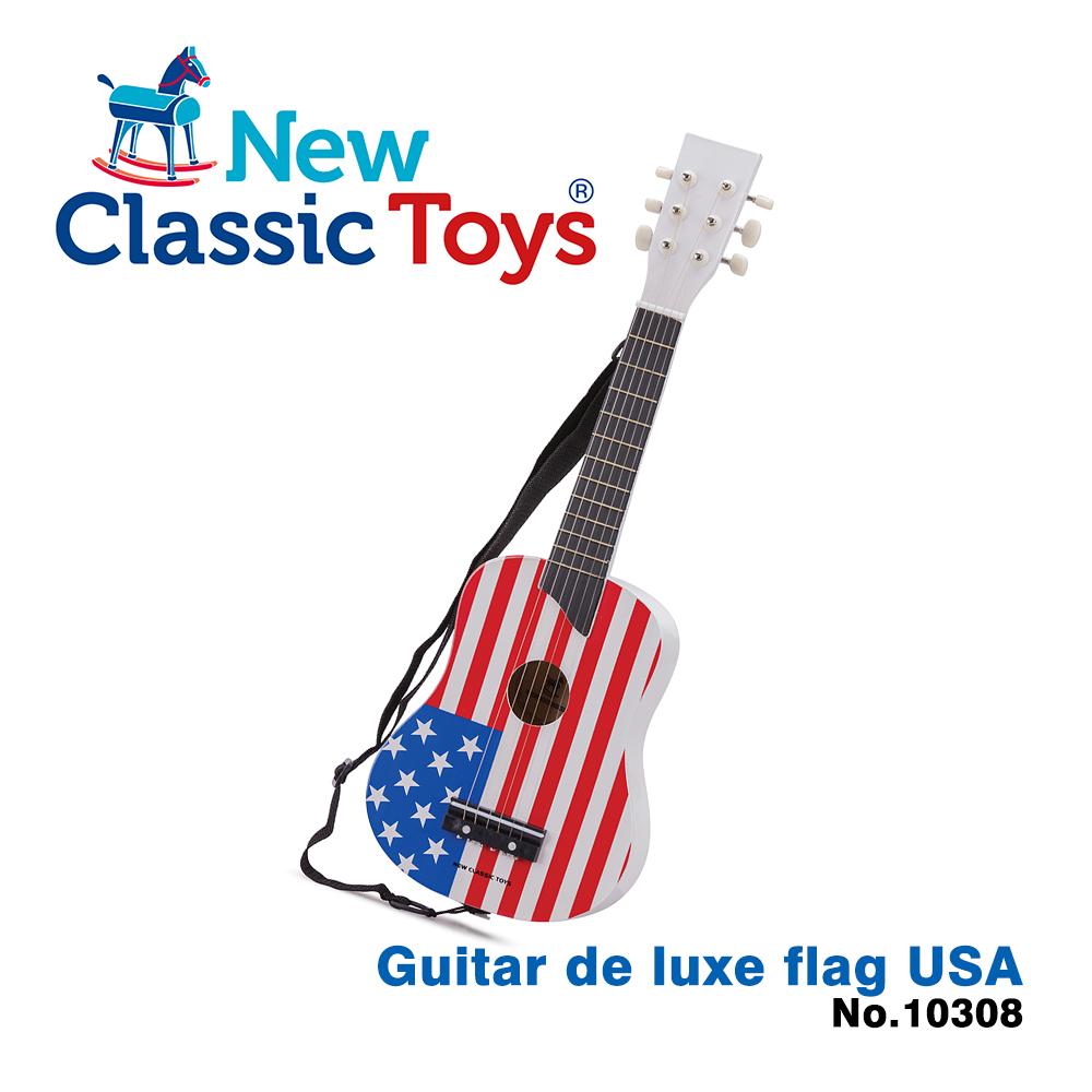 【荷蘭New Classic Toys】幼兒音樂吉他-經典美國 - 10308