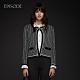 EPISODE - 黑白交織精緻鑲邊百搭短款針織開衫外套 product thumbnail 1