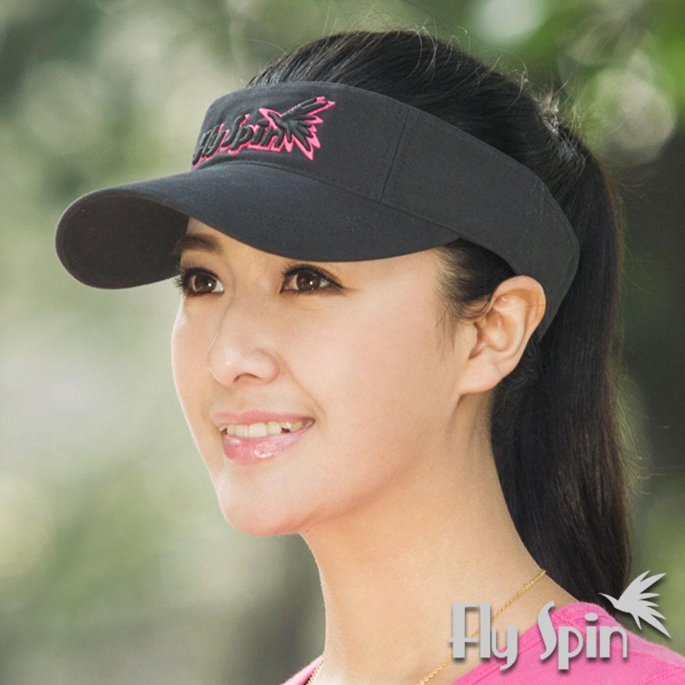 FLYSPIN 全棉防曬繡花男女網球高爾夫球空心帽