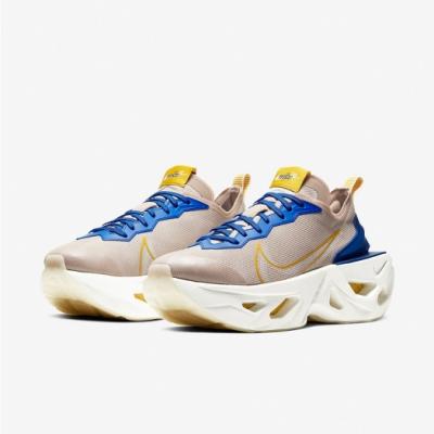 Nike 休閒鞋 ZoomX Vista Grind 女鞋 厚底 舒適 增高 氣墊 球鞋 穿搭 卡其 藍 CT8919200