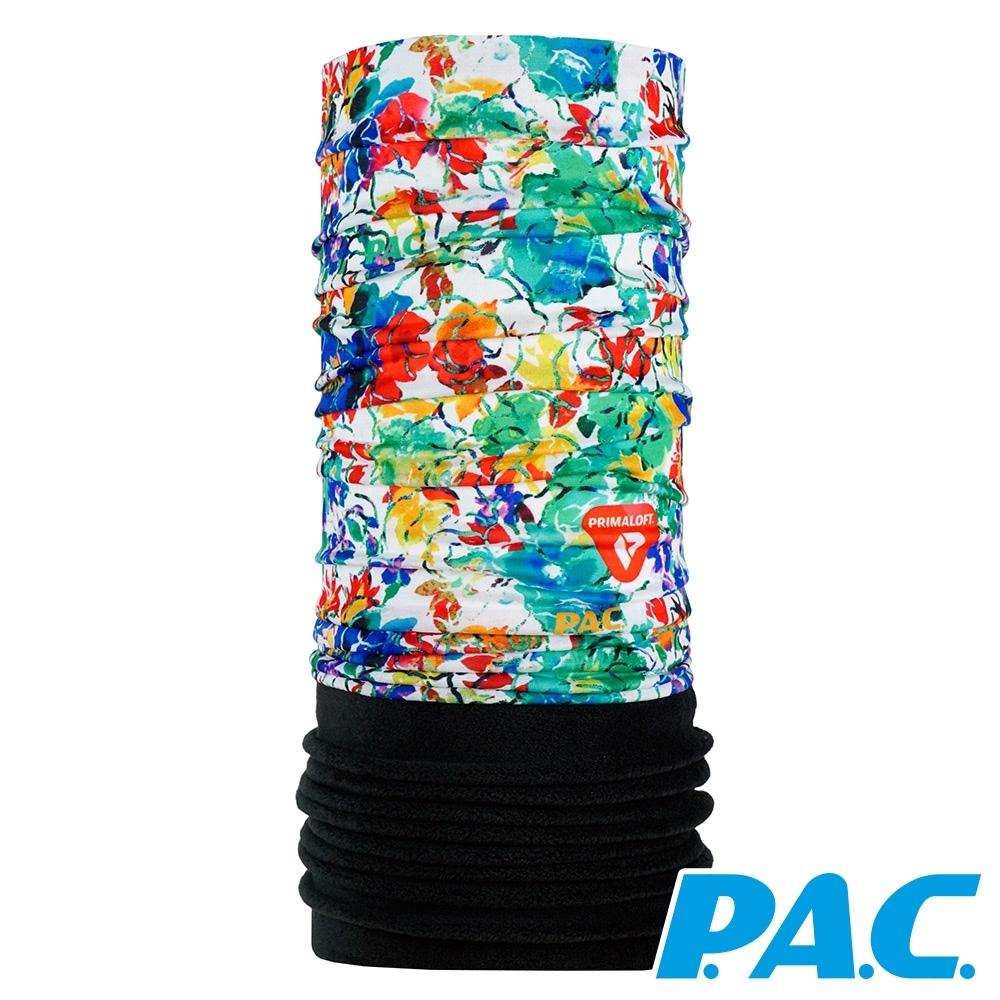 【PAC德國】雙層PRIMALOFT快乾保暖頭巾PAC8953310抽象派