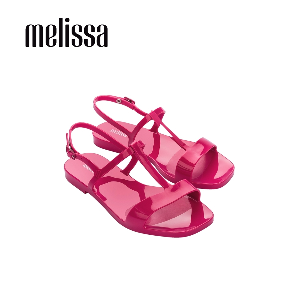 Melissa  ESSENTIAL 時尚簡約T字涼鞋 -桃紅