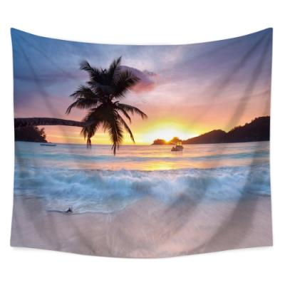 半島良品 北歐風裝飾掛布-沙灘系列/日出沙灘 150x130cm
